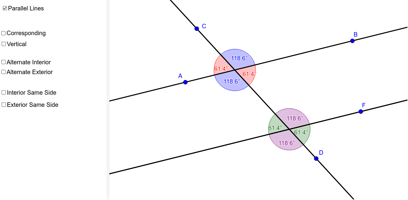 Knowing How Angles Lines And Transversals Relate Manual Guide