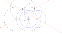 start, create an isosceles triangle