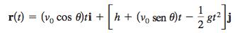 Ecuación del movimiento de proyectiles