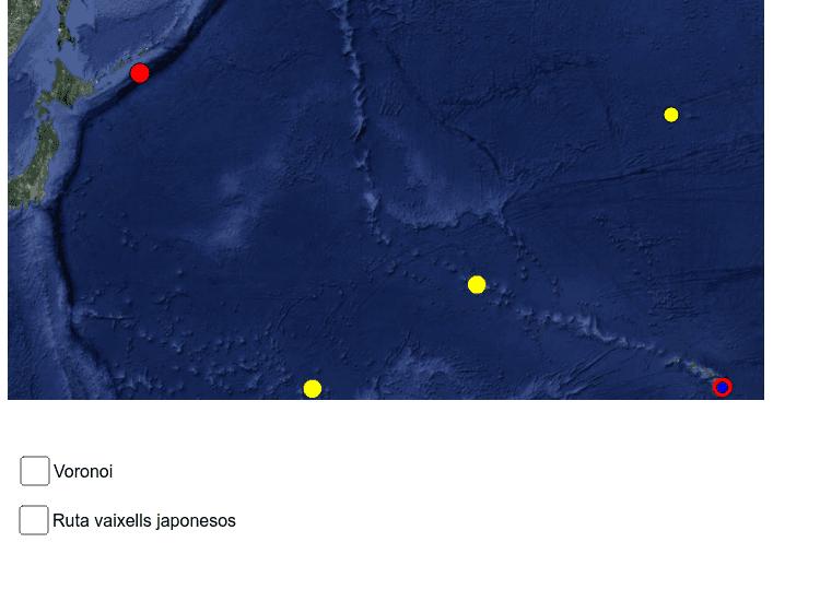 L'atac a Pearl Harbour i les matemàtiques (diagrames de Voronoi) Premeu Enter per iniciar l'activitat