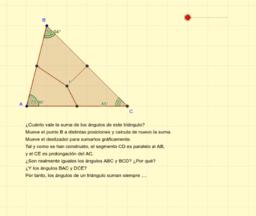 Suma de los ángulos de un triángulo