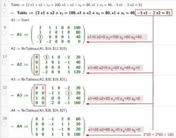 Simplex Algorithmus MAX Programm