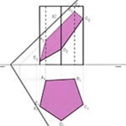 DIÉDRICO_Sección prisma plano oblicuo