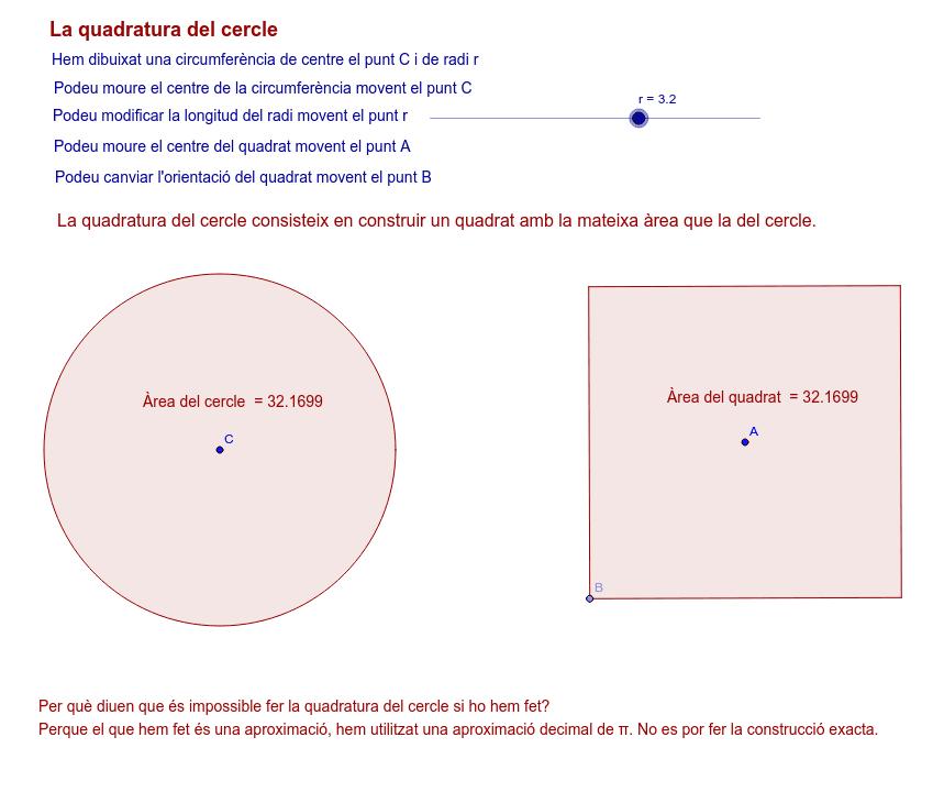 La quadratura del cercle