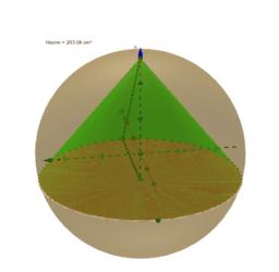 Cône dans un sphère