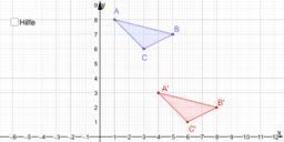 Verschiebung eines Dreiecks