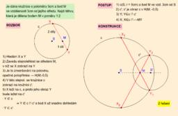 Kružnice a tětiva daným bodem