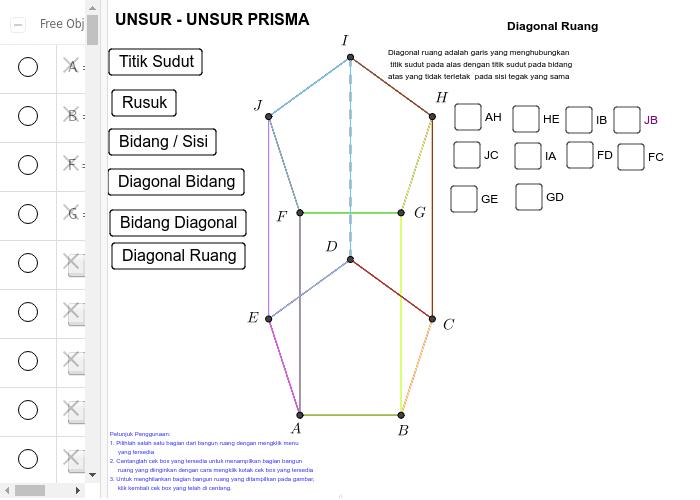 Unsur unsur prisma geogebra geogebra applet ccuart Gallery