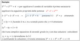Equazioni sotto forma di polinomi P(a^x )=0 o riconducibili a quelle elementari mediante sostituzione