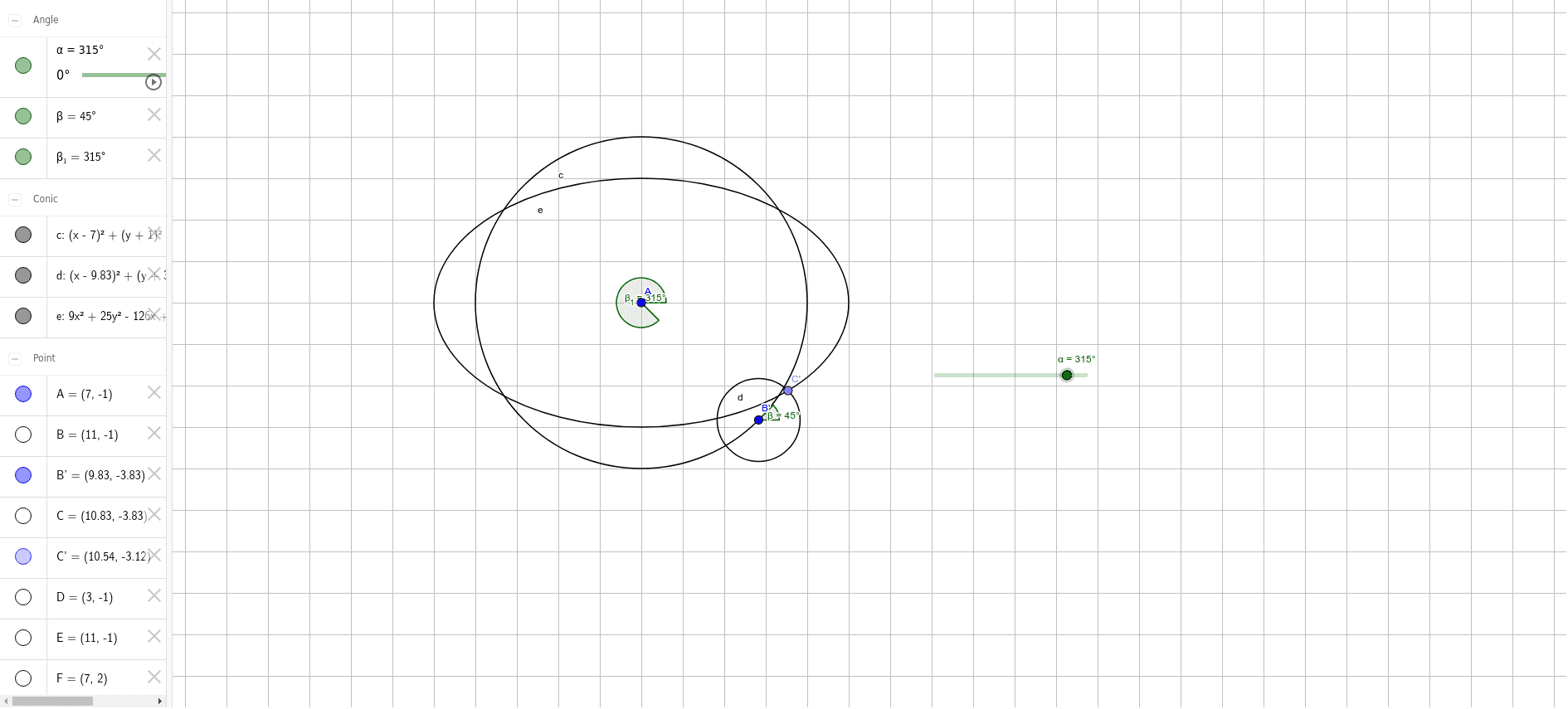 Note the path of point C'