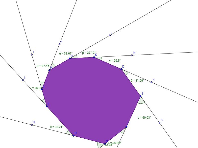 Decagon exterior angle sum geogebra - What is the exterior angle of a decagon ...