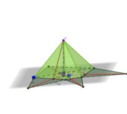 Piramide che ha per base un trapezio isoscele circoscritto