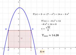 Parabola - beírt téglalap