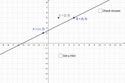 how to find the equation of a line geogebra