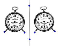 Alice in GeoGebra land. Clock