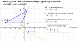 Háromszög - magasságpont