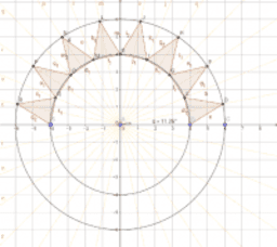 Flag of Nepal - Triangles in Crescent using Angle Bisectors
