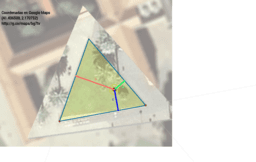 Triángulo equilátero: ubicando el poblado