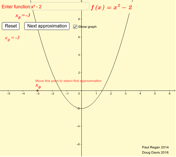 Newton Method for Finding Roots of a Function