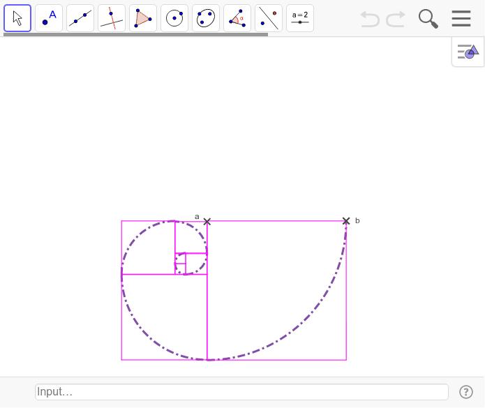 La sucesión de Fibonacci en la espiral Presiona Intro para comenzar la actividad