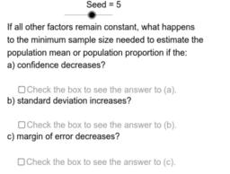 Sample Size Variation Problems