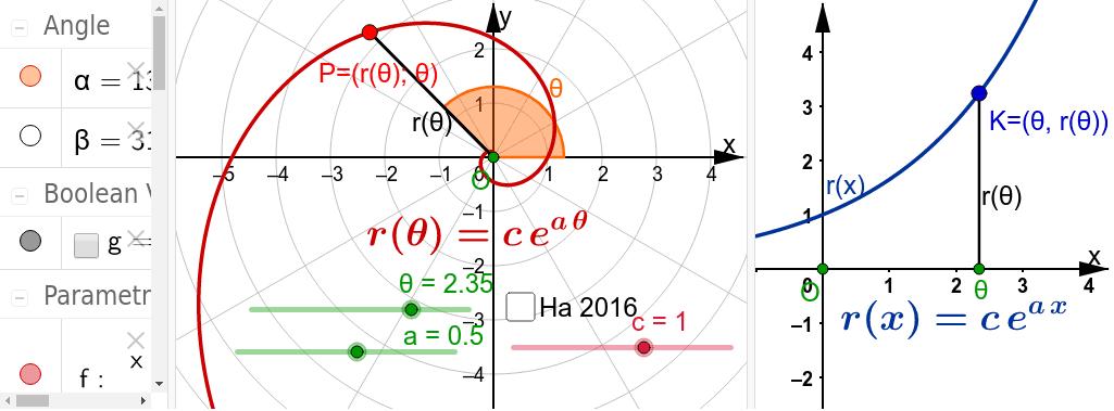 =logarithmische Sp.=Exponentialsp.=spira-mirabilis=Spirale der Natur Drücke die Eingabetaste um die Aktivität zu starten