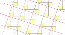 Pythagorean Theorem by Tessellation # 3 Tiling