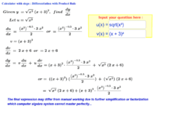 Product Rule Calculator with steps