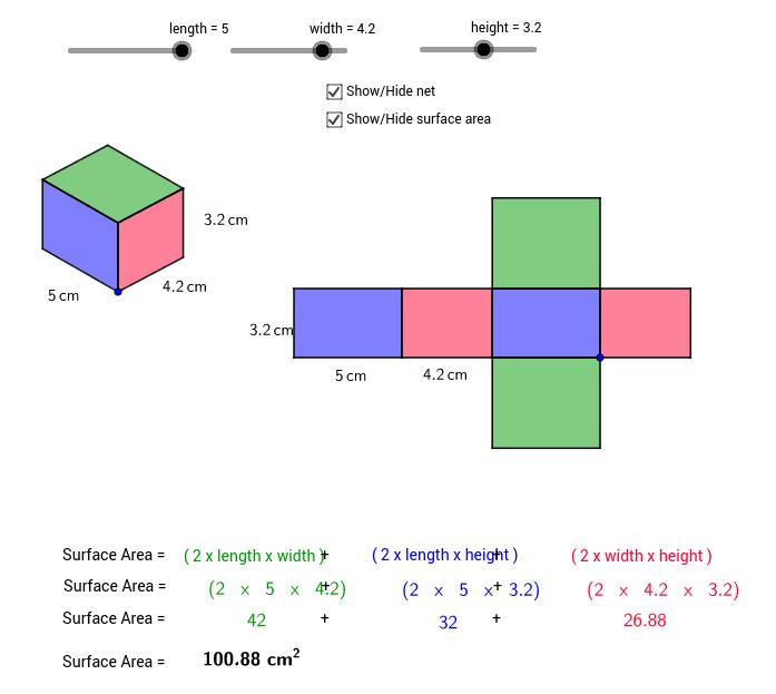 Net of a rectangular prisms