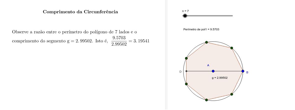 Noção intuitiva para a determinação de  π
