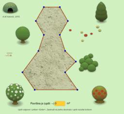 Površina parcele u parku
