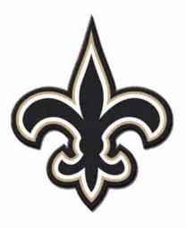 Saints Logo Line of Reflection Symmetry