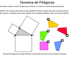Quebra-cabeças: Teorema de Pitágoras