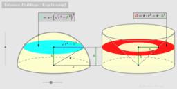 Volumen einer Halbkugel