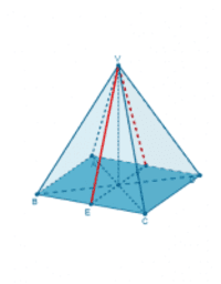 Unghi în piramidă patrulateră regulată -fețe lat. opuse