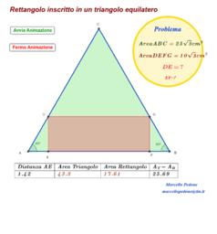 Rettangolo inscritto in un triangolo equilatero