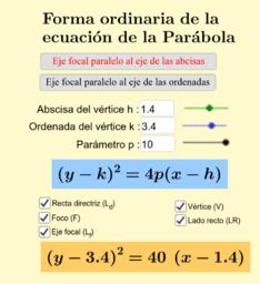 Forma ordinaria de la parábola