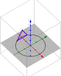 Solid wt Circular Base & Equilateral Triangle Cross Section