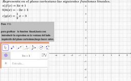 grafica de funciones lineales