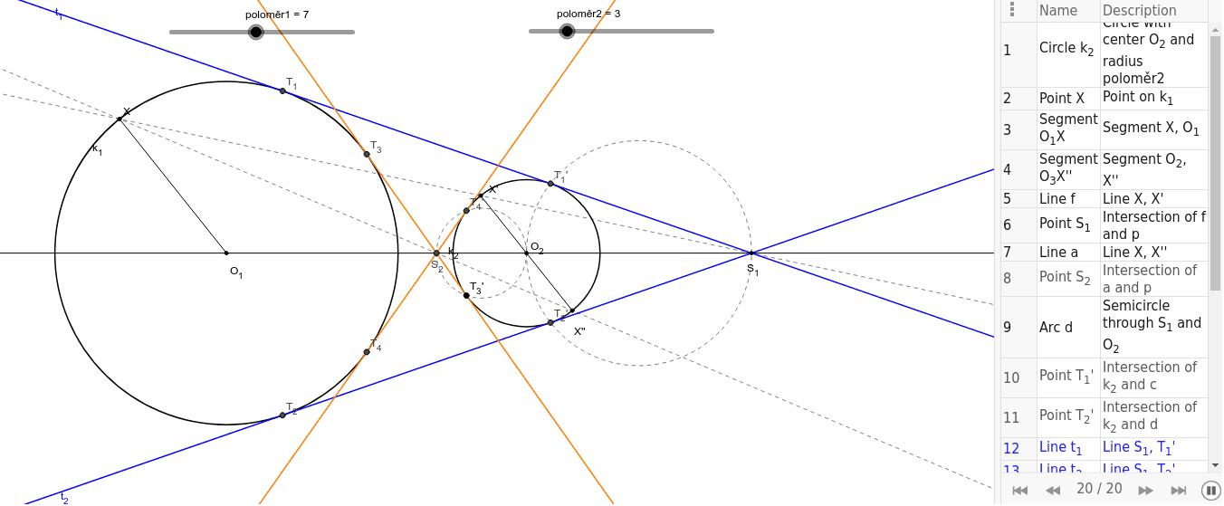Společné tečny kružnic