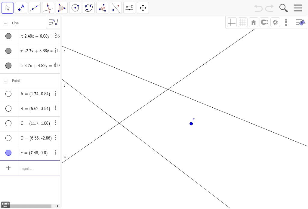 Dado un foco de una elipse y tres tangentes a la misma, hallar el otro foco.