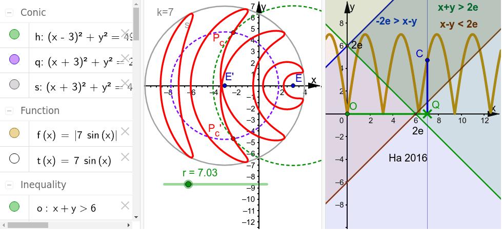 Nur die Graphenteile im gültigen Bereich erzeugen die Kurve Drücke die Eingabetaste um die Aktivität zu starten