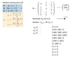 LGS - Iteratives Verfahren