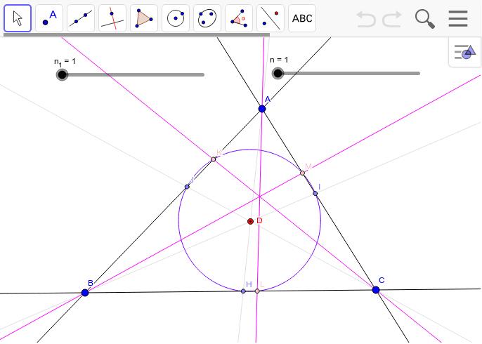 今までなぜ気がつかなかったのだろうか。内心にはX1029、重心には垂心、ジェルゴンヌ点にはジェルゴンヌ点が対応する。 ワークシートを始めるにはEnter キーを押してください。