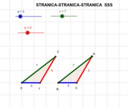 Poučak o sukladnosti trokuta SSS