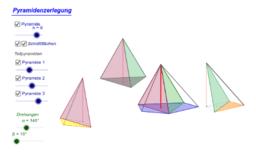 Pyramidenzerlegung durch Diagonalschnitte