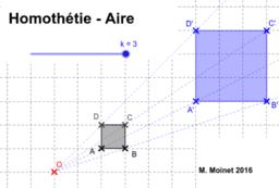 Homothétie - Aire - Activité