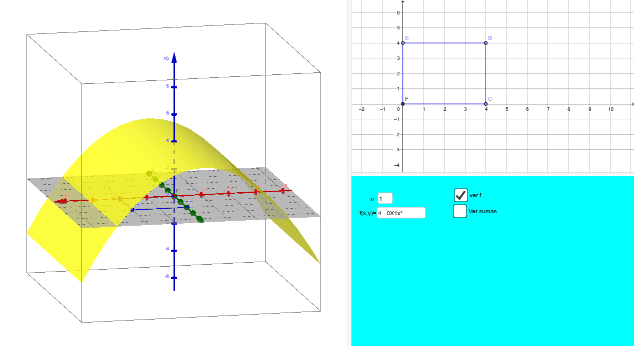 Integral doble área cuadrada  Press Enter to start activity