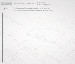 Etude d'une suite arithmético-géométrique