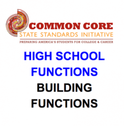 CCSS High School: Functions (Building Functions)